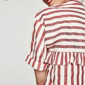 Zara Oversized Striped Blouse